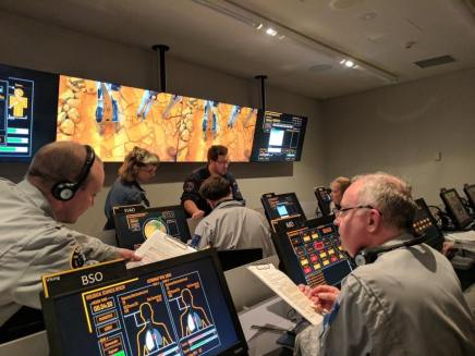 VSSEC Mars mission control: with radiation rising on the Mars surface, it was decision making time.