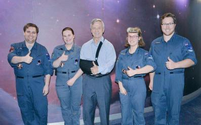 Ex-ISS astronaut Robert Thirsk dropping by VSSEC to see how space education is done down under.